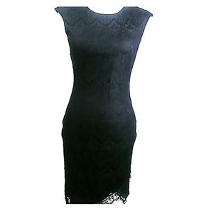 Sexy Guess Open Back Lace Black Dress